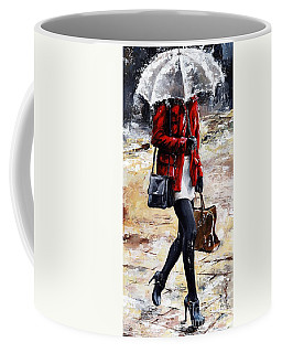 Rainy Day - Woman Of New York 09 Coffee Mug