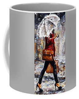 Rainy Day - Woman Of New York 17 Coffee Mug