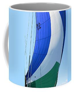 Raising The Blue And Green Sail Coffee Mug