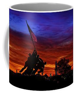 Raising The Flag Coffee Mug