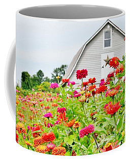 Raising Zinnia Flowers - Delaware Coffee Mug