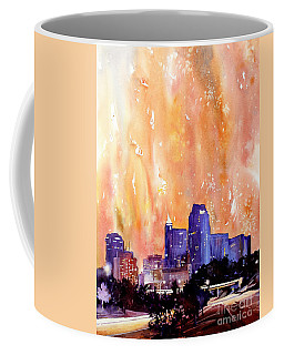 Raligh Skyline Sunset Coffee Mug by Ryan Fox