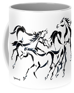 Coffee Mug featuring the painting Rambunctious by Bill Searle