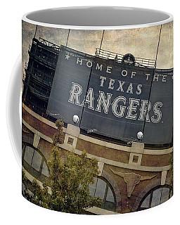 Rangers Ballpark In Arlington Color Coffee Mug