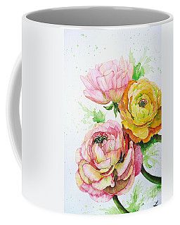 Ranunculus Flowers Coffee Mug