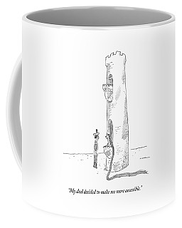 Rapunzel Speaks To A Man From The Ground-floor Coffee Mug