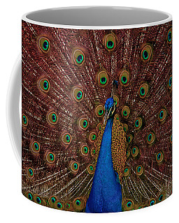 Coffee Mug featuring the photograph Rare Pink Tail Peacock by Eti Reid