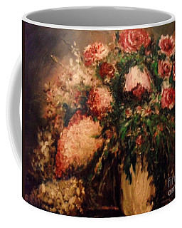 Coffee Mug featuring the painting Raspberry Jammies by Laurie Lundquist