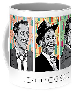 Rat Pack Pop Art Coffee Mug by Jim Zahniser