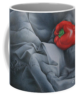 Coffee Mug featuring the painting Rather Red by Pamela Clements