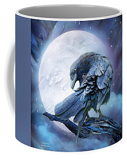 Raven Moon Coffee Mug by Carol Cavalaris