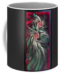 Raw Red Roses Framed Coffee Mug