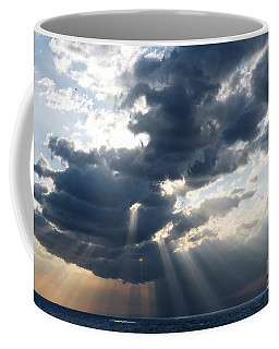 Rays And Clouds Coffee Mug by Antonio Scarpi