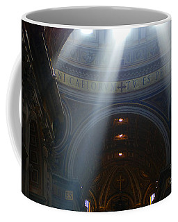 Rays Of Hope St. Peter's Basillica Italy  Coffee Mug by Bob Christopher