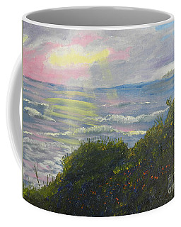 Rays Of Light At Burliegh Heads Coffee Mug