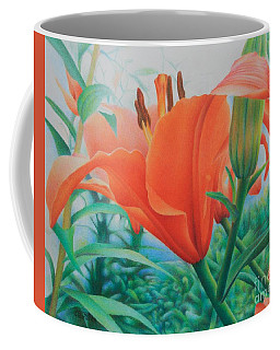 Coffee Mug featuring the painting Reach For The Skies by Pamela Clements