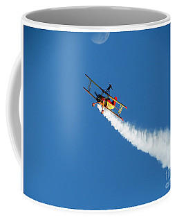 Reaching For The Moon. Oshkosh 2012. Postcard Border. Coffee Mug