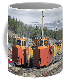 Coffee Mug featuring the photograph Ready For More Snow At Donner Pass by Jim Thompson