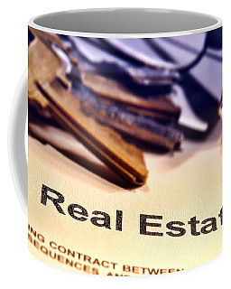 Real Estate Title Word On A Realtor Contract Page Coffee Mug
