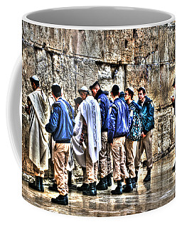 Coffee Mug featuring the photograph Real Homeland Security In Israel by Doc Braham