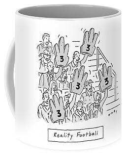 Reality Football -- A Group Of Cheering Fans Coffee Mug