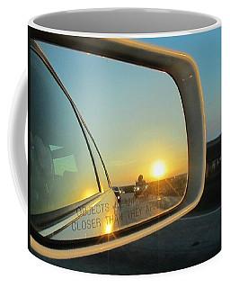 Rear View Sunset Coffee Mug