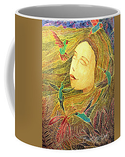 Coffee Mug featuring the painting Recordando A Puerto Rico by Oscar Ortiz