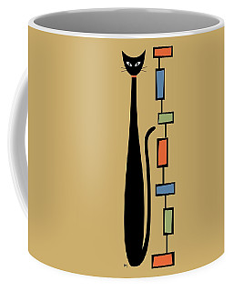 Coffee Mug featuring the digital art Rectangle Cat 2 by Donna Mibus