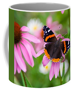 Coffee Mug featuring the photograph Red Admiral Butterfly by Patti Deters