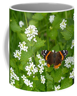 Coffee Mug featuring the photograph Red Admirals by Lingfai Leung