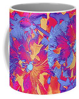 Red And Blue Pansies Pop Art Coffee Mug