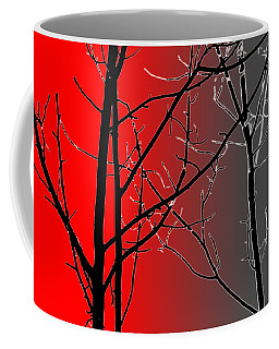 Red And Gray Coffee Mug