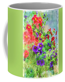 Red And Purple Calibrachoa - Digital Paint I Coffee Mug