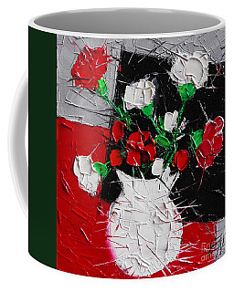 Red And White Carnations Coffee Mug