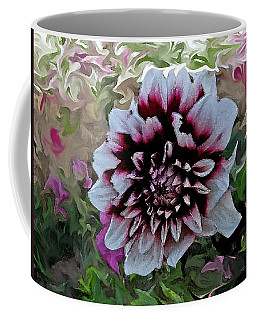 Red And White Dahlia  Coffee Mug