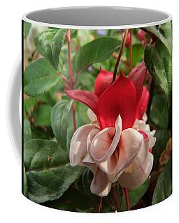 Red And White Fuschia Coffee Mug
