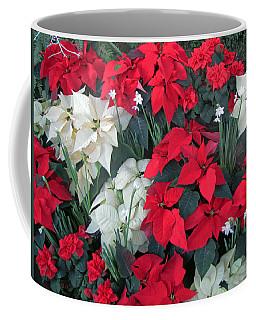 Red And White Poinsettias Coffee Mug