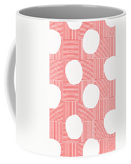 Red And White Poof  Coffee Mug