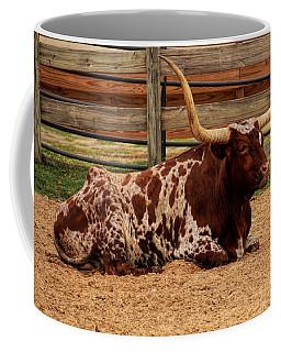 Red And White Texas Longhorn Coffee Mug