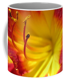 Red And Yellow Day Lily Coffee Mug