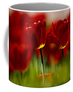 Red And Yellow Tulips Coffee Mug