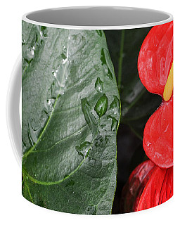 Red Anthurium Flower Coffee Mug