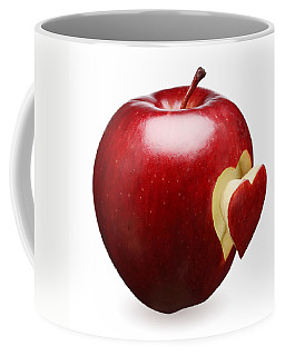 Red Apple With Heart Coffee Mug
