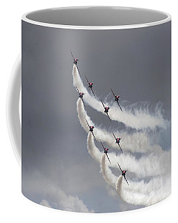 Red Arrows Flying In Formation Coffee Mug