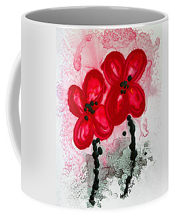 Red Asian Poppies Coffee Mug