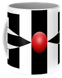 Red Ball 2a Panoramic Coffee Mug