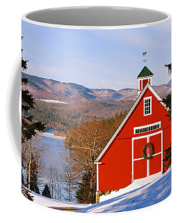 Red Barn On Newfound Lake Coffee Mug
