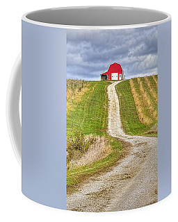 Red Barn On The Hill Coffee Mug