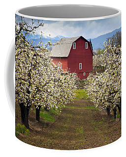 Red Barn Spring Coffee Mug