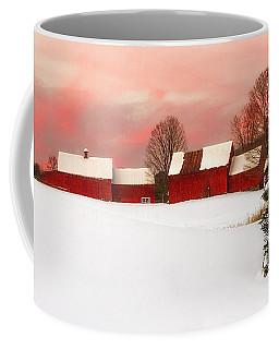 Red Barn Sunset Coffee Mug
